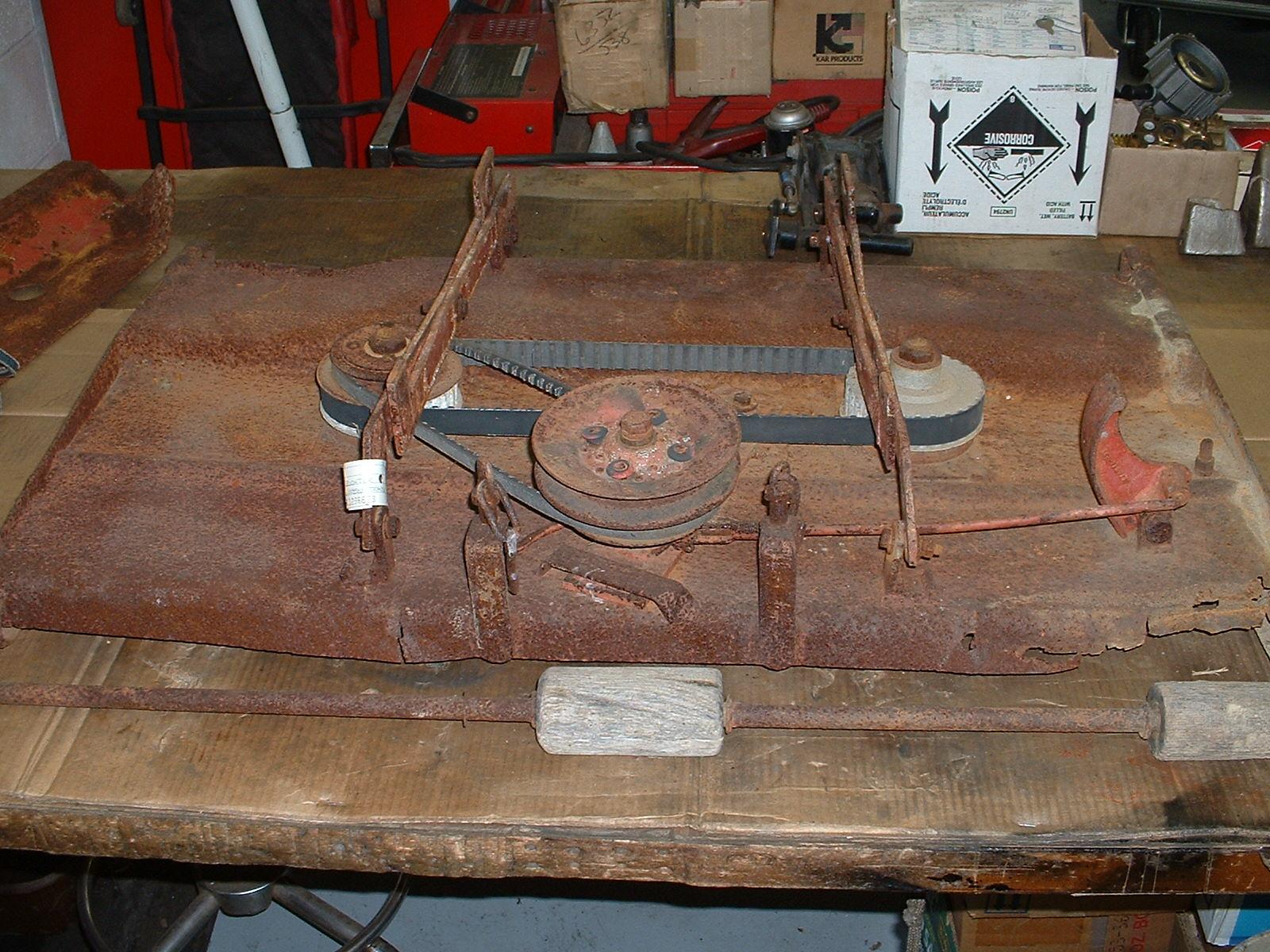 Restoration - Mid 60's Panzer Mower Deck